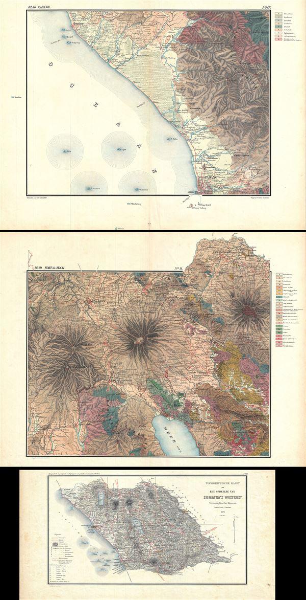 Topographische en Geologische Beschrijving van een gedeelte van Sumatra's Westkust.