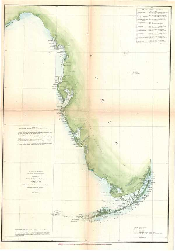 Sketch F Showing the Progress of the Survey in Section VI. With a General Reconnaissance of the Western Coast of Florida 1848-51. - Main View