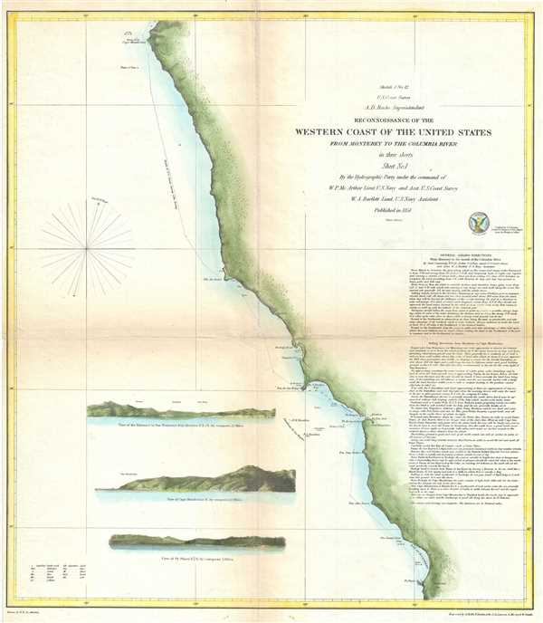 Sketch J No. 12 Reconnaissance of the Western Coast of the United States from Monterey to the Columbia River in three sheets Sheet No. 1.