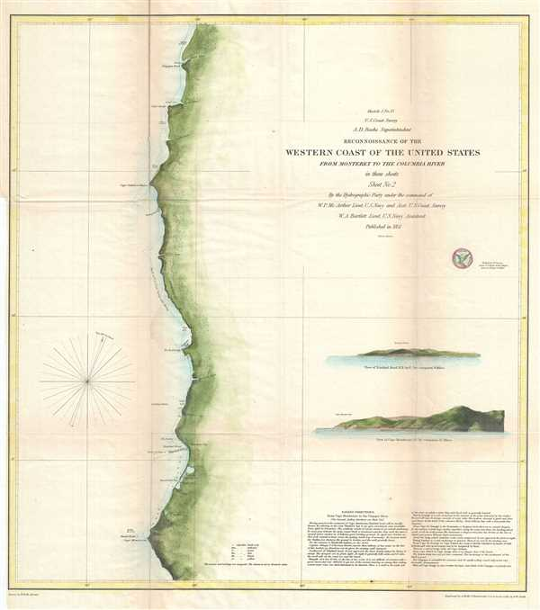 Sketch J No. 13 Reconnaissance of the Western Coast of the United States from Monterey to the Columbia River in three sheets Sheet No. 2.