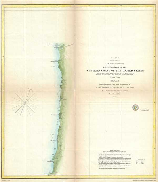 Sketch J No. 13 Reconnaissance of the Western Coast of the United States from Monterey to the Columbia River in three sheets Sheet No. 3.