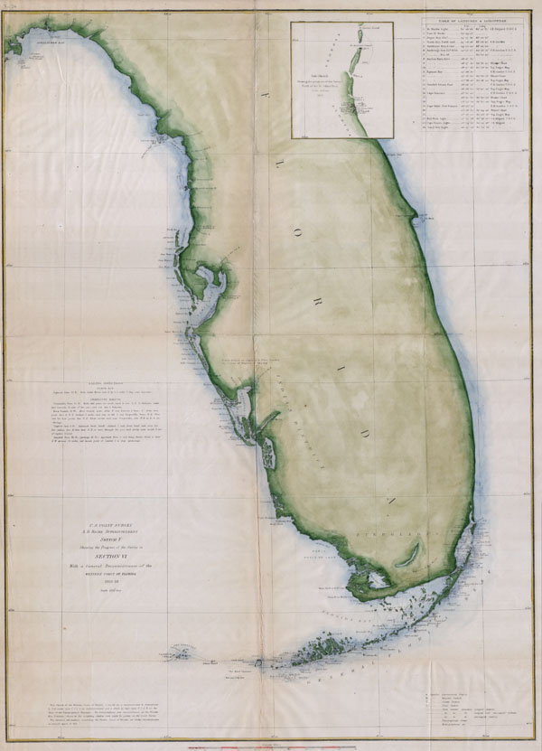 Map Western Florida.General Reconnaissance Of The Western Coast Of Florida