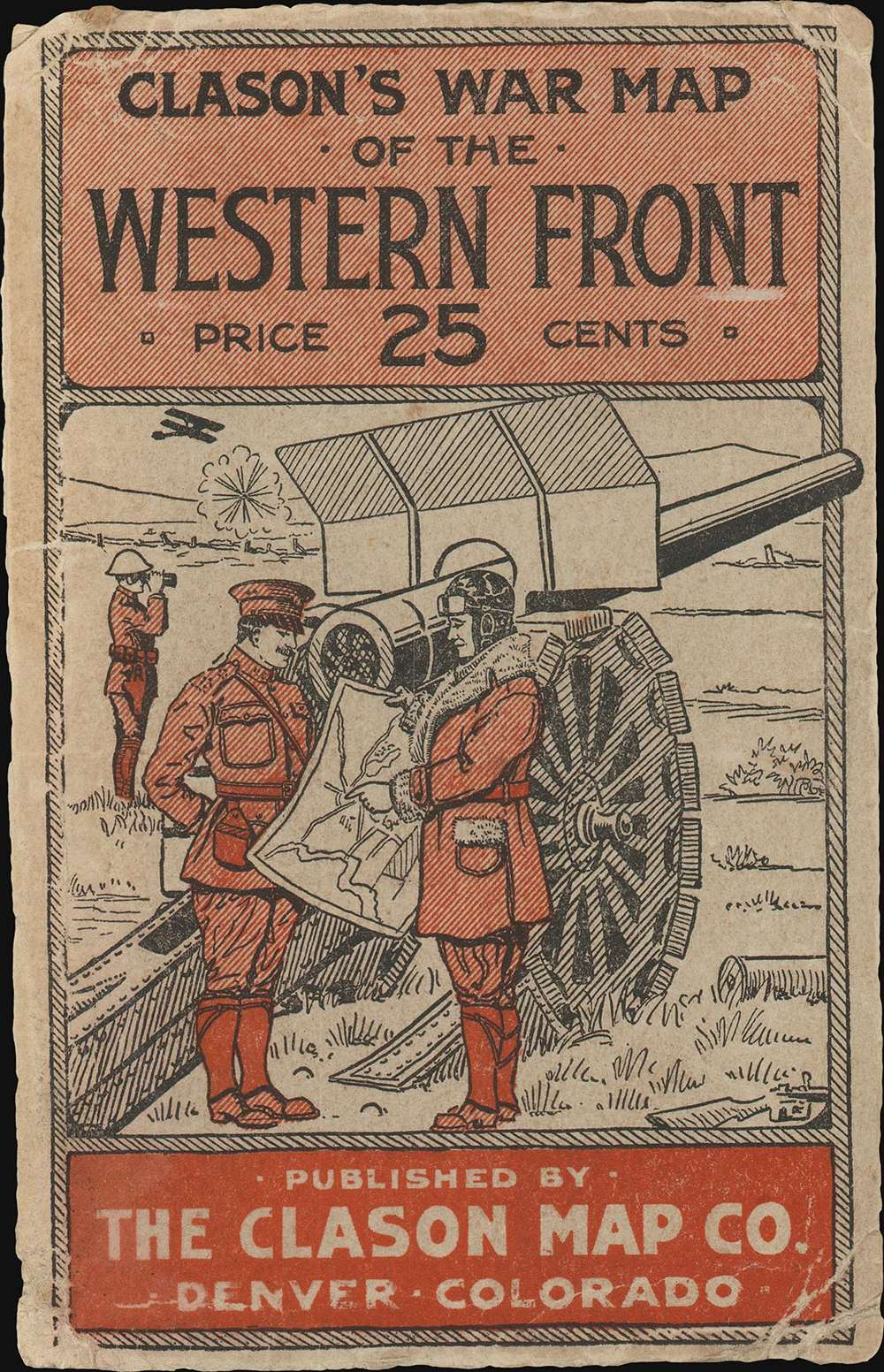 Clason's War Map of the Western Front. - Alternate View 1