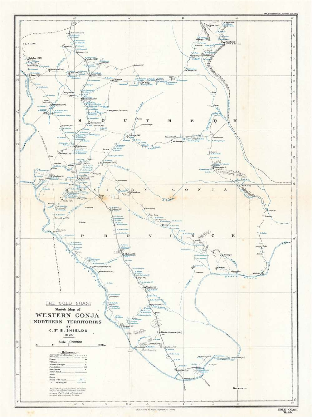 The Gold Coast. Sketch Map of Western Gonja Northern Territories. - Main View