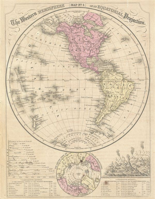 The Western Hemisphere on an Equatorial Projection.