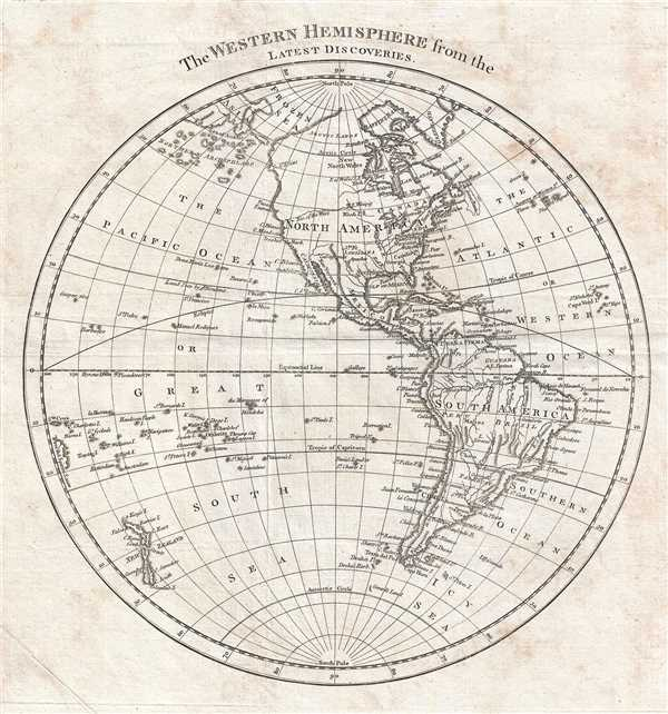 The Western Hemisphere from the Latest Discoveries. - Main View