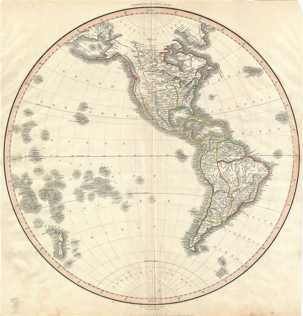 Map Of America In 1812.Western Hemisphere Geographicus Rare Antique Maps