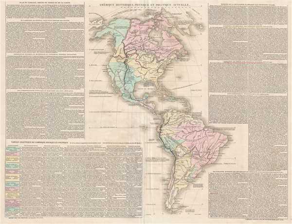 Amérique Historique, Physique et Politique Actuelle. - Main View