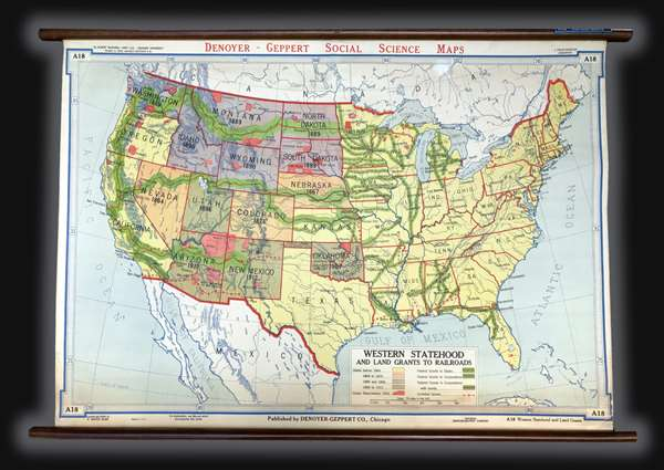 Western Statehood and Land Grants for Railroads.