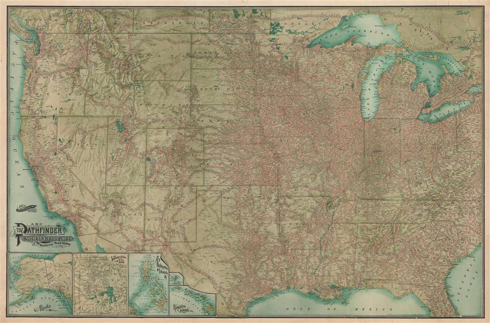 ABC The Pathfinder Railway Guide Map. Western Section. - Main View