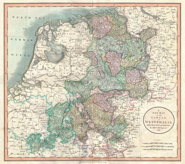 A New Map of the Circle of Westphalia, from the Latest Authorities.