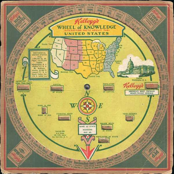 Kellogg's Wheel of Knowledge Interesting Facts about the United States.