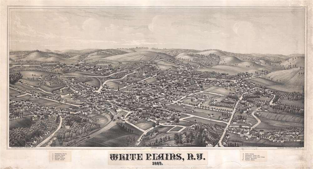 White Plains NY 1887 Geographicus Rare Antique Maps