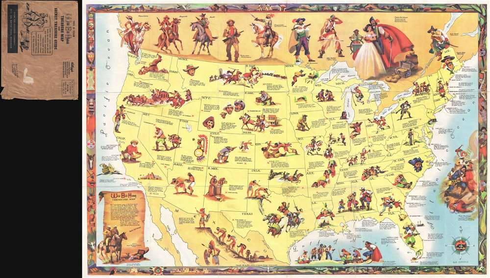 Wild Bill Hickok Treasure Map.