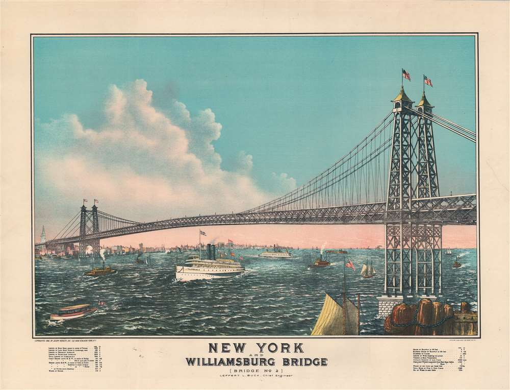 New York and Williamsburg Bridge (Bridge No. 2). - Main View