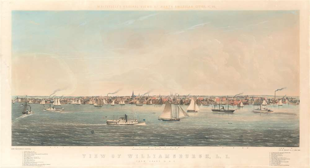View of Williamsburgh, L. I.,  from Grand St. N.Y. /  Whitefield's Original Views of North American Cities, No. 26. - Main View
