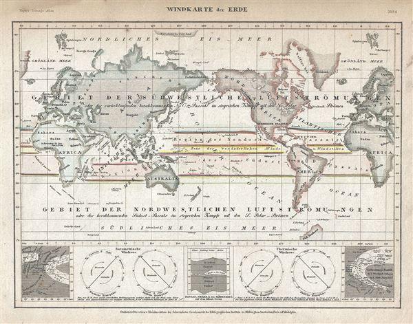 Windkarte der Erde.