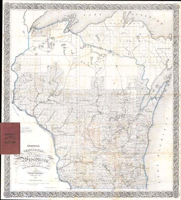 Chapman's Sectional Map of Wisconsin. - Main View