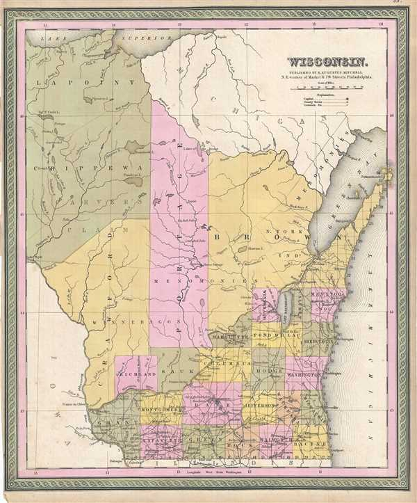 Wisconsin geographicus rare antique maps wisconsin gumiabroncs Images