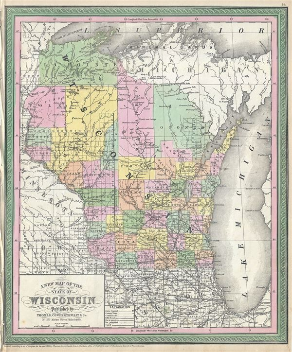 A New Map of the State of Wisconsin.