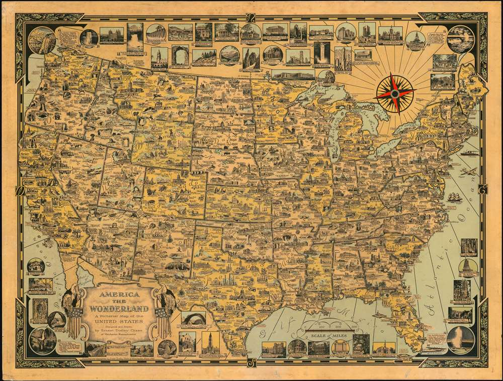 1941 Pictorial Map of the United States