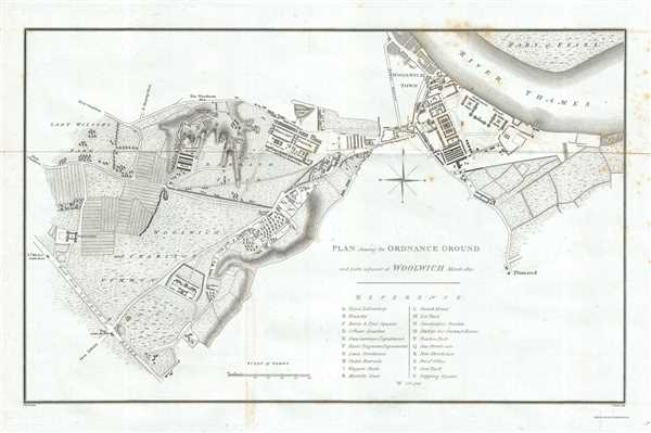 Plan shewing the Ordnance Ground and parts adjacent at Woolwich March 1810.
