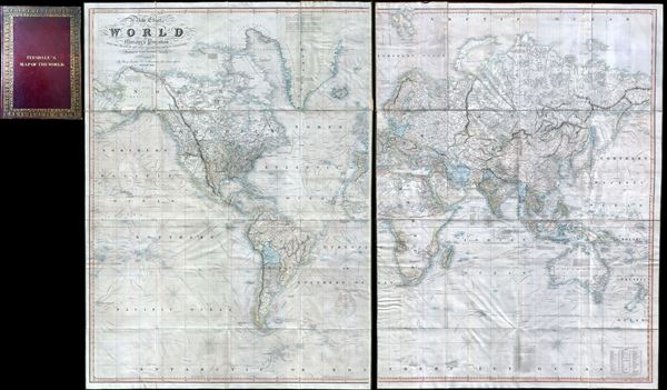 A New Chart of the World On Mercator's Projection With The Tracks Of The Most Celebrated and Recent Navigators.
