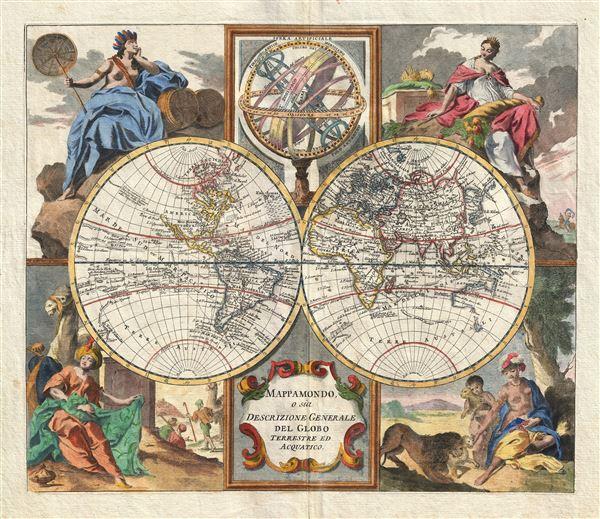 Mappamondo, o sia Descrizione Generale del Globo Terrestre ed Acuatico.