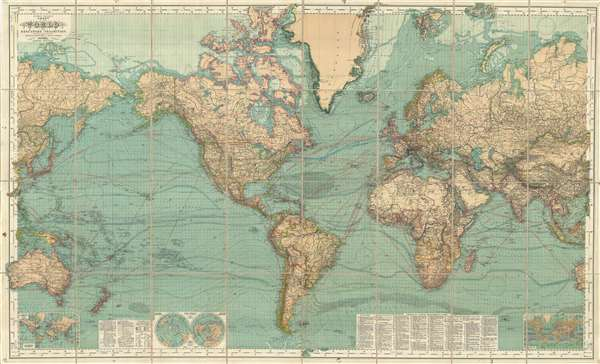 Hermann Berghaus: Chart of the World on Mercators Projection ...