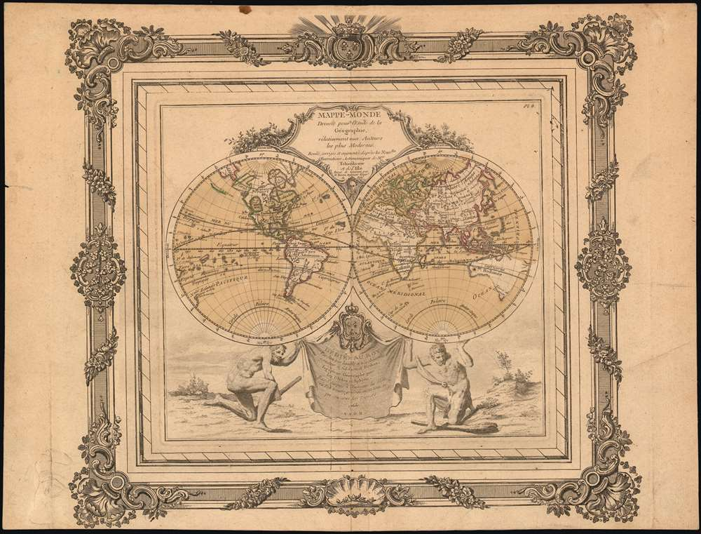 Mappe-Monde Dressée pour l'Etude de la Géographie : rélativement aux Auteurs les plus Modernes. - Main View