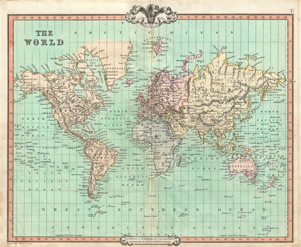 The World.: Geographicus Rare Antique Maps