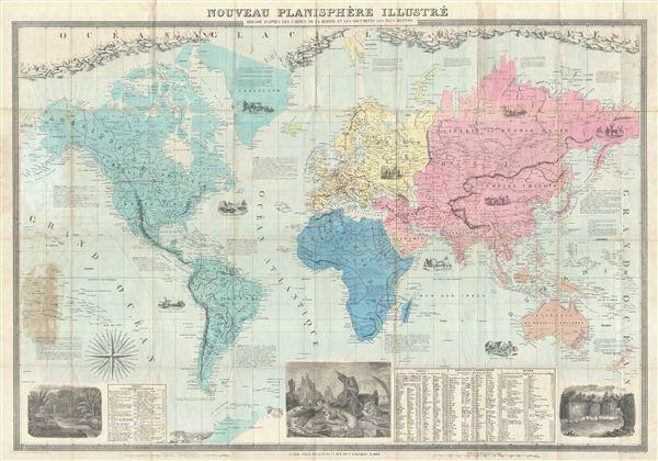 Nouveau Planisphere Illustre.