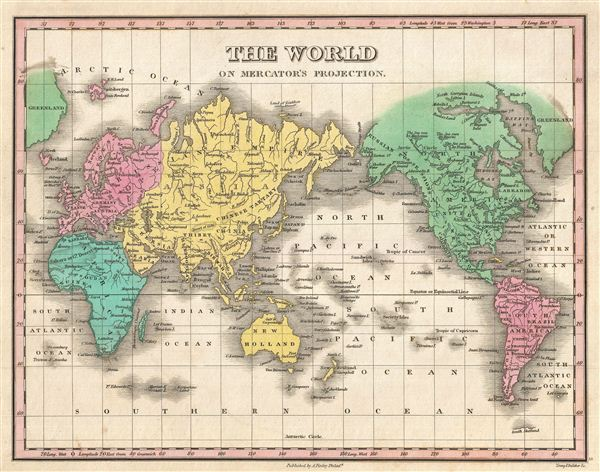 The World on Mercator's Projection. - Main View