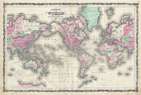 Johnson's Map of the World on Mercator's Projection. - Main View