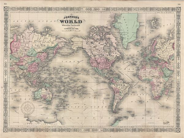 Johnson's World on Mercators Projection.