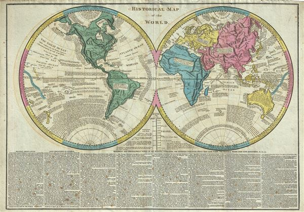 Historical Map of the World. - Main View