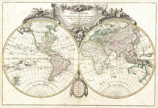 Mappe-Monde ou Description du Globe Terrestre, Assujettie aux Observations Astronomiques. - Main View
