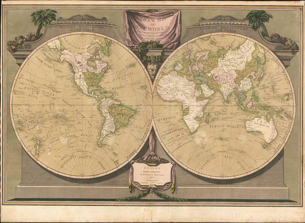 A New Map of the World, with Captain Cook's Tracks, His Discoveries and those of the Other Circumnavigators. - Main View