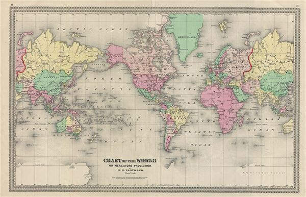 Chart of the World on Mercators Projection. - Main View