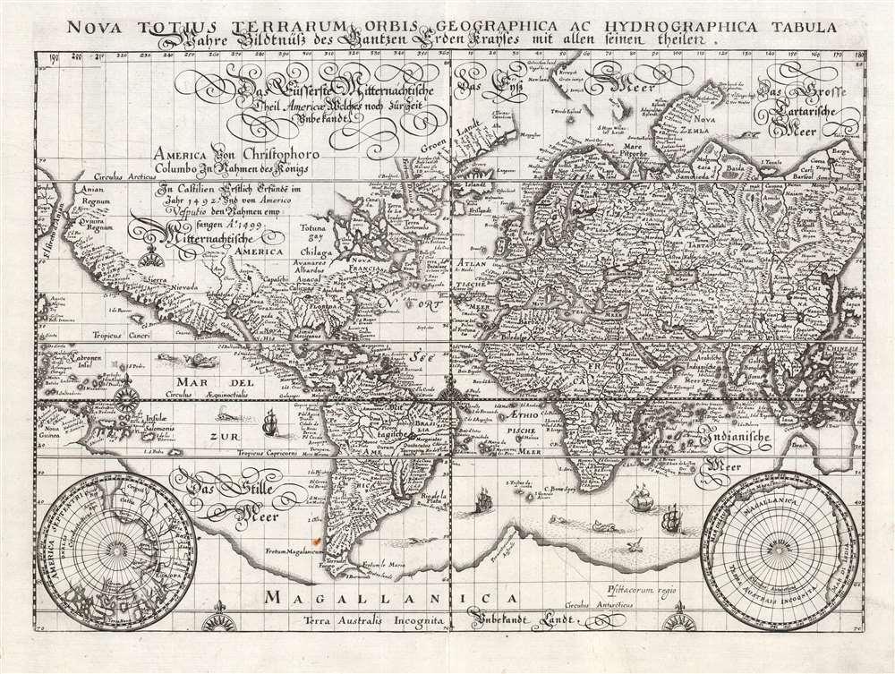 Nova Totius Terrarum Orbis Geographica Ac Hydrographica Tabula... - Main View