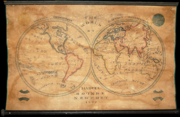The World by Marcia Rounds, Newport 1833.