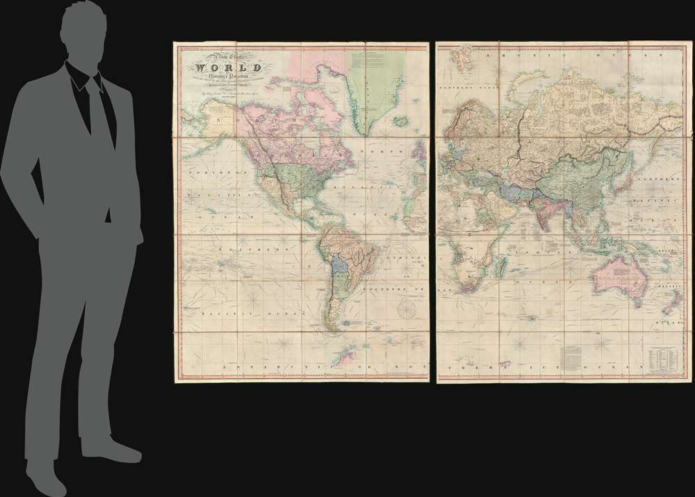 A New Chart of the World On Mercator's Projection With The Tracks Of The Most Celebrated and Recent Navigators. - Alternate View 1