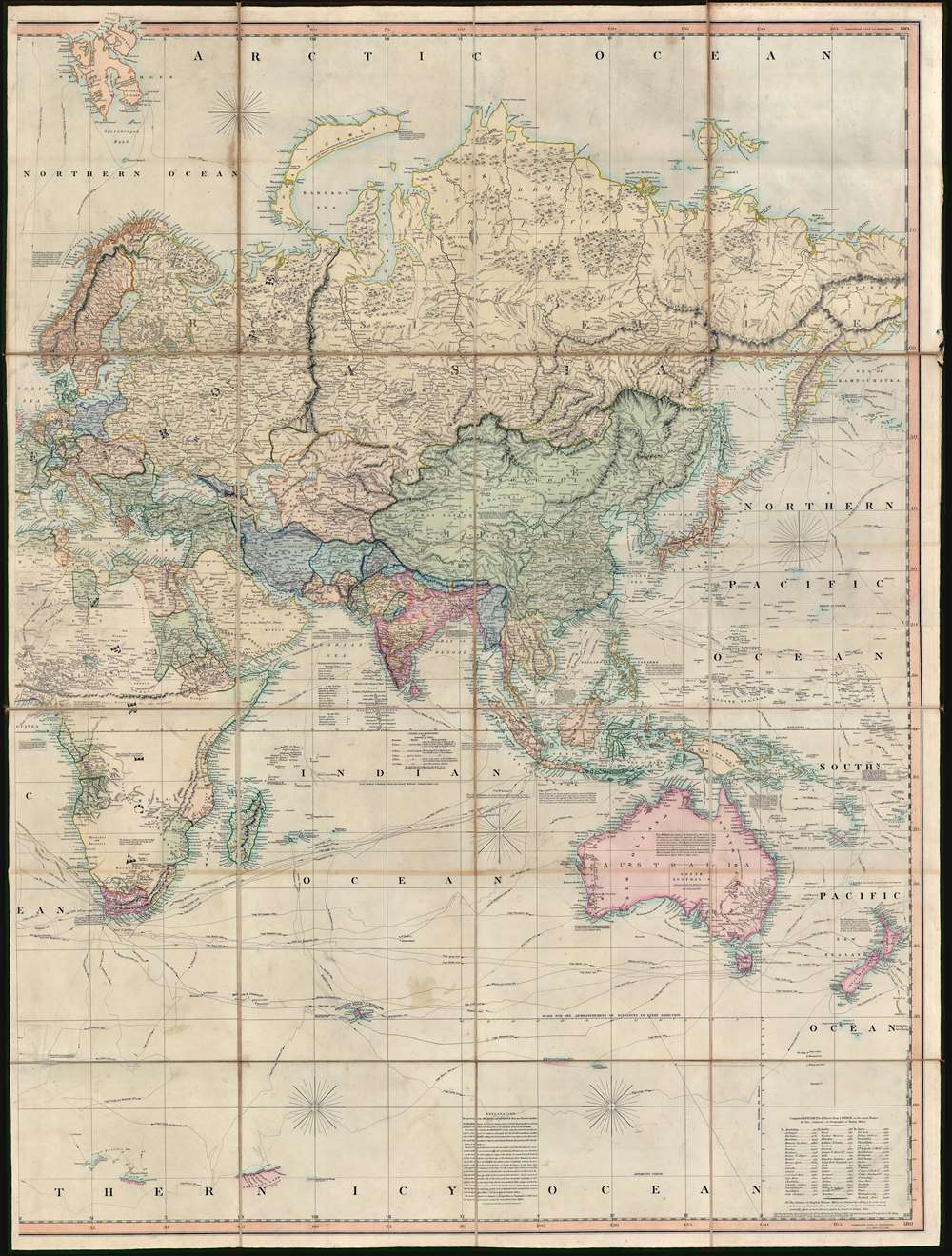 A New Chart of the World On Mercator's Projection With The Tracks Of The Most Celebrated and Recent Navigators. - Alternate View 3