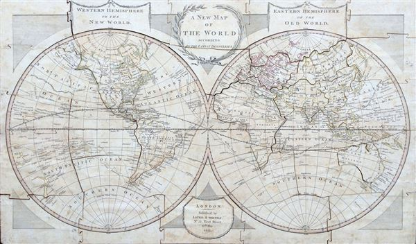 A New Map of the World according to the Latest Discoveries. - Main View