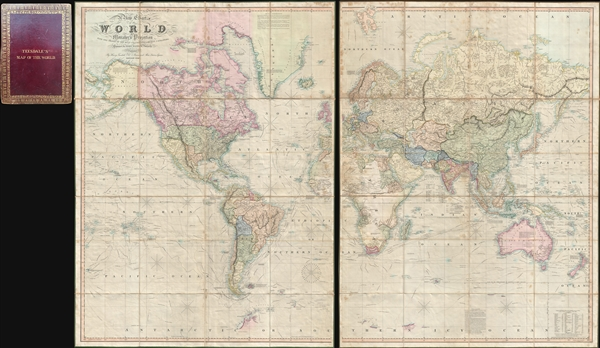 A New Chart of the World On Mercator's Projection With The Tracks Of The Most Celebrated and Recent Navigators. - Main View