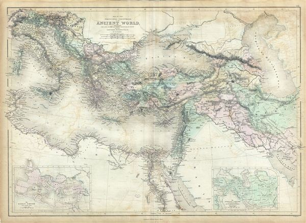 Map of the Principal Countries of the Ancient World extending from The Alps to the Southern Frontier of Egypt and from Carthage to Persepolis. - Main View