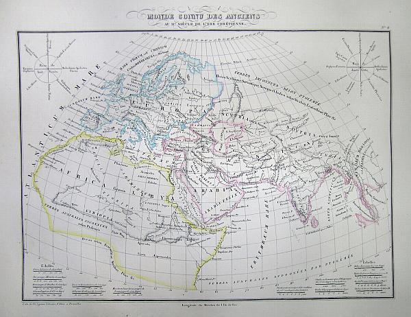 Monde Connu des Anciens au 11e Siecle de L'ere Chretienne.