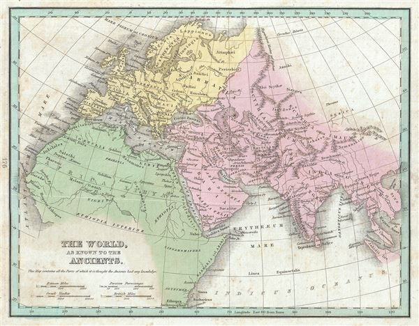 The World As Known To The Ancients Geographicus Rare Antique Maps