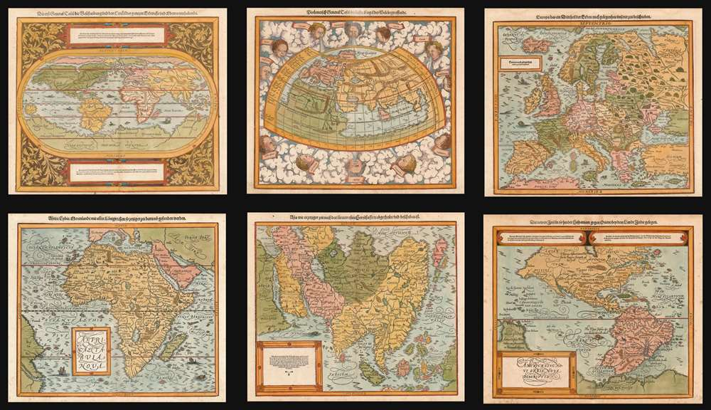 1588 Munster/ Petri set of World and Continents Maps