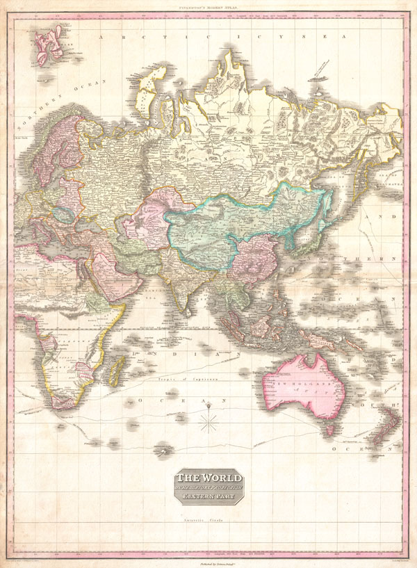 The World on Mercator's Projection Eastern Part. - Main View